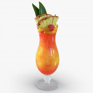3D Mai Tai Cocktail