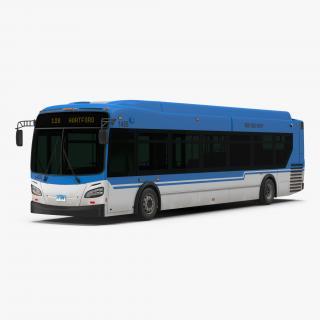 3D New Flyer Xcelsior XD40 Bus Simple Interior model