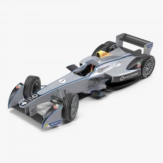 Formula E Race Car Qualcomm Rigged 3D model