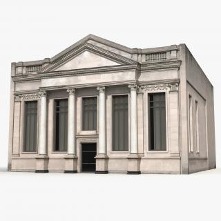 3D Building with Columns