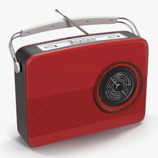 Retro Radio Generic 3D model