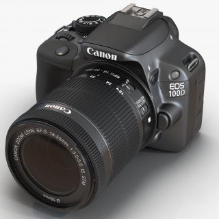 Canon EOS 100D 3D model