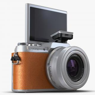 3D model Panasonic DMC GF7 Rigged Brown