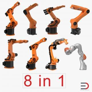 3D Kuka Robots Rigged Collection 3