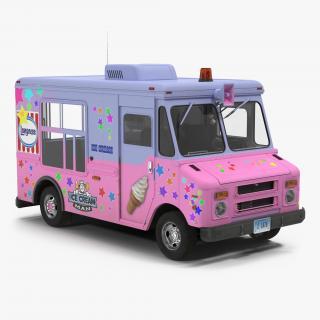 3D model Ice Cream Van 2