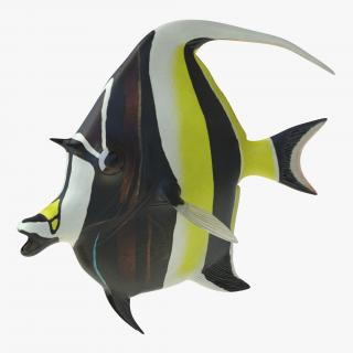 Moorish Idol Fish Pose 2 3D model