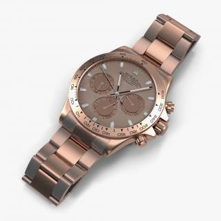 3D Rolex Daytona Pink Gold model