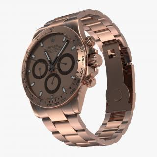 3D model Rolex Daytona Pink Gold 2