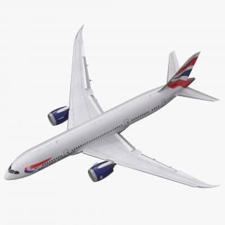 3D Boeing 787-8 Dreamliner British Airways Rigged
