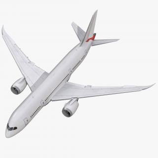 3D Boeing 787-8 Dreamliner Generic Rigged model