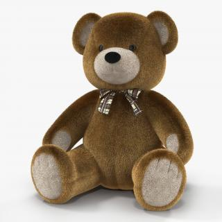 3D Teddy Bear 3D model with Fur model