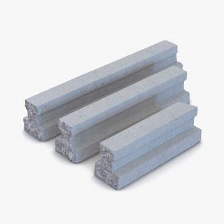 3D Concrete Elements Collection model