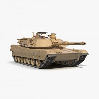 3D M1 Abrams 2 Rigged model