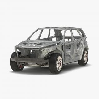 SUV Frame with Chassis 3D