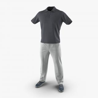 Mens Casual Clothes 3D model