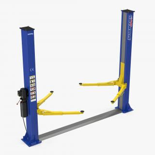 Two Post Car Lift 3D