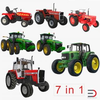 3D Tractors Collection 3