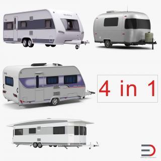 Caravans Collection 3D model