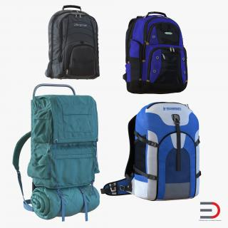 Backpacks Collection 4 3D