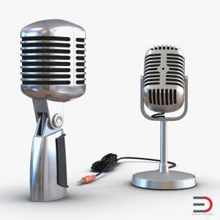 Classic Studio Microphones Collection 3D