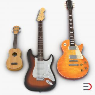 3D Guitars Collection model