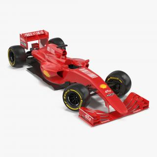 3D Formula One Car Rigged Red