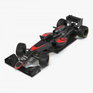 Formula One Car Rigged 3D