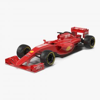 Formula One Car Red 3D model