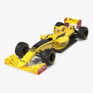 Formula One Car Yellow 3D