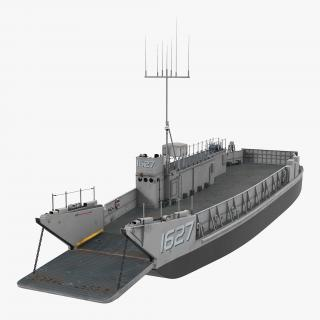 Landing Craft Utility Class 1627 Rigged 3D model