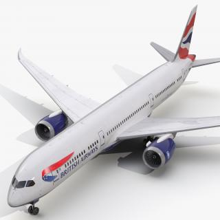 Boeing 787-9 Dreamliner British Airways 3D model