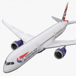 3D Boeing 787-9 Dreamliner British Airways Rigged