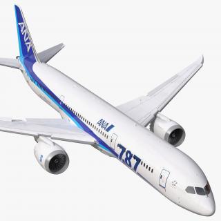 Boeing 787-9 Dreamliner All Nippon Airways Rigged 3D model