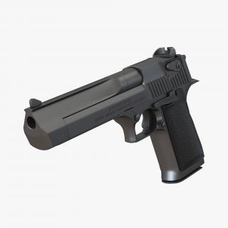 Pistol IMI Desert Eagle Black 3D model