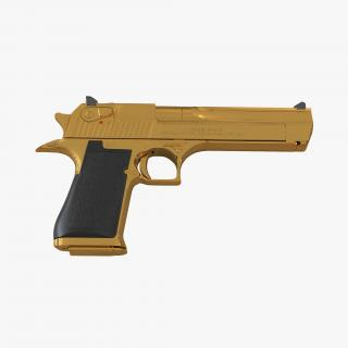 3D model Pistol IMI Desert Eagle Golden