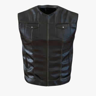3D Leather Biker Vest Generic