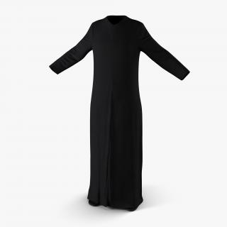 Traditional Arab Ladies Dress Abaya 2 3D