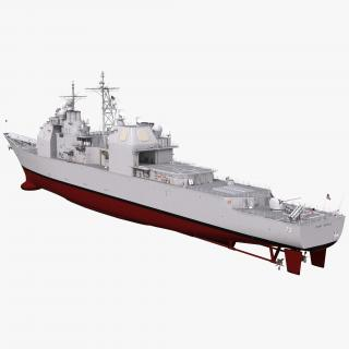 Ticonderoga Class Cruiser Port Royal CG-73 3D