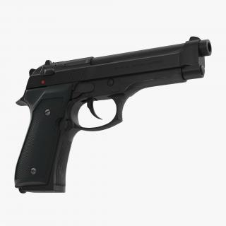 Beretta 92F Black 3D