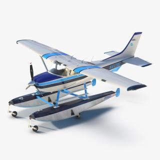 3D Cessna 182 Skylane on Floats model