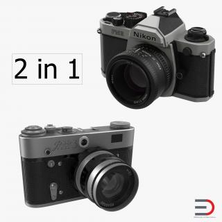 3D Vintage Cameras Collection