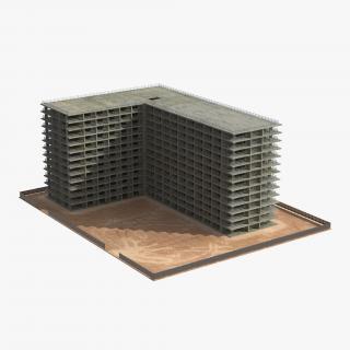 3D Building Construction 4 model