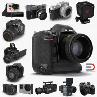 3D Cameras Collection 3D Models model