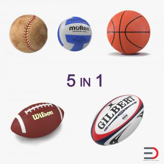 Sport Balls Collection 4 3D model