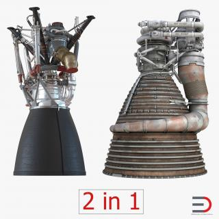 3D model Rocket Engines Collection