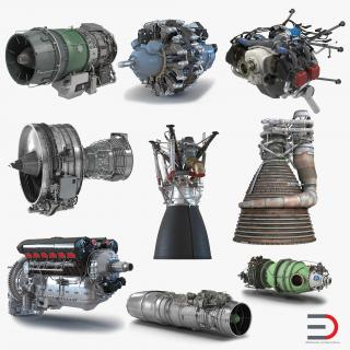 Aircraft Engines Collection 3D