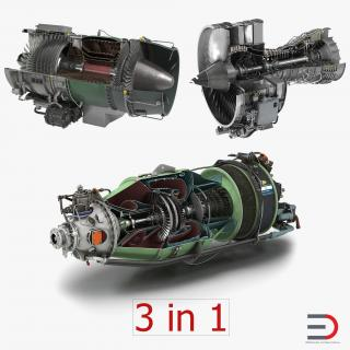 Sectioned Turbojet Engines 3D Models Collection 3D