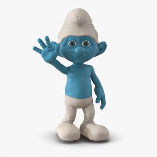3D Smurf Pose 2 with Fur