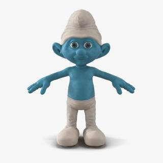 Smurf with Fur 3D model