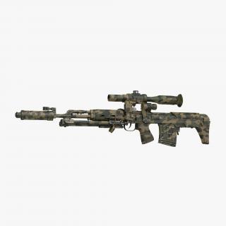 3D Russian Sniper Rifle Dragunov SVU model